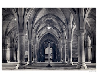 Urban Photography PRINT, Cloisters - 2 , Black and White, Wall Art