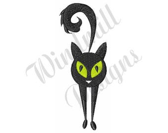 Black Cat - Machine Embroidery Design