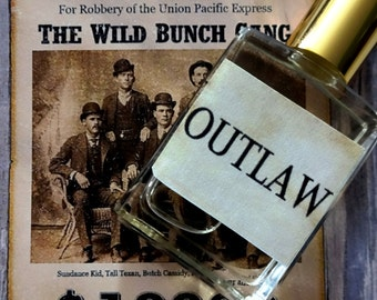 Outlaw Cologne Oil 1/2 oz.  Wild West Cologne, Masculine Cologne, Woodsy Cologne, Outdoorsman Cologne, Forest Cologne, Cologne Gift For Him