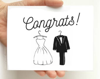 Wedding Congratulations Card - Wedding Greeting Card - Engagement Card - Congratulations Card Bridal Shower Greeting Card - Card for Bride