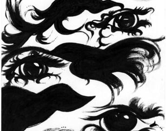 Beast Blood Sword' a print of my original painting