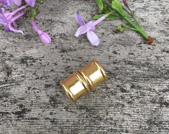 One - 12 mm Barrel Closure Style Magnetic Silver or Gold Clasp - ONE (1) Piece