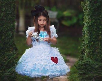 Alice in Wonderland dress tutu costume 2t
