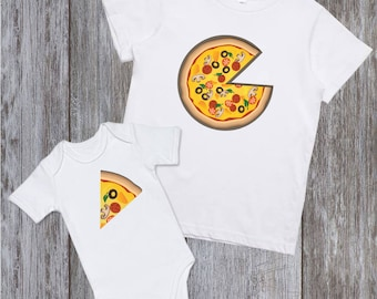 Dad and baby matching shirts pizza Father and son shirt Father daughter matching shirt Pizza shirts Fathers day gift Father son shirt