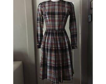 Autumn Plaid Dress