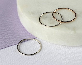 Mixed Metal Stacking or Midi Rings - Rose Gold Fill and Sterling Silver | stacker rings | mixed metal rings | midi rings | mother's day