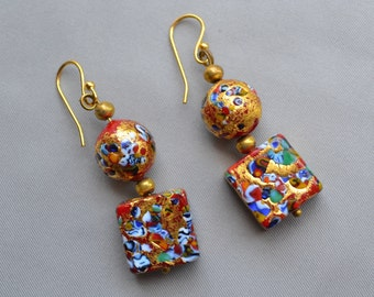 I call these my melted jewel Earrings