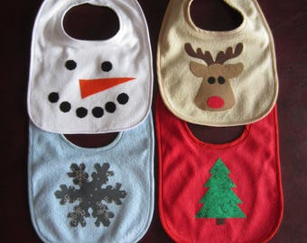 Winter Wonderland Holiday Bibs