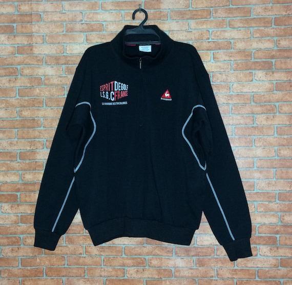 rare ! vintage le coq sportif embroidered pullover jumper crew neck sweatshirt X8gyE
