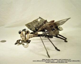 Shoe Stretcher Grasshopper- Welded Steel Industrial Sculpture