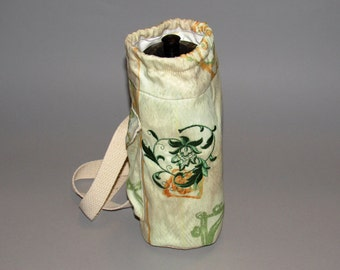 Water Bottle holder- cloth, insulated and embroidered