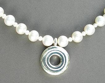 Open Hole on 6.5mm Pearl Necklace