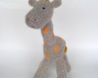 PATTERN PDF Crocheted and Felted Baby Giraffe Amigurumi Pattern
