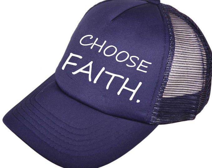 Gym Hats. Baseball & Trucker Caps . CHOOSE FAITH baseball hat . Ladies Gym hat . Workout Hat . Inspirational workout hat . Motivational caps