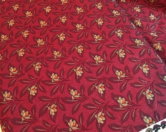Civil War Fabric Jubilee 8256 12 Madder Red by Barbara Brackman - Reproduction Fabric by Moda - 100% Quality Cotton by 1/2 YD or Yardage
