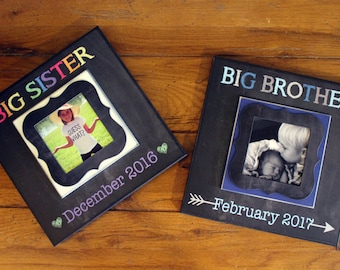 Big Brother/Big Sister Pregnancy Reveal ~ DuoPack~ Sonogram Photo ~  Picture Frame ~ Siblings To Be ~ Reveal to Kids ~ New Baby