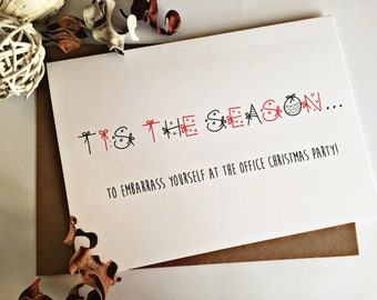 Funny Christmas Card, Funny holiday card, happy holiday card, funny Xmas Card