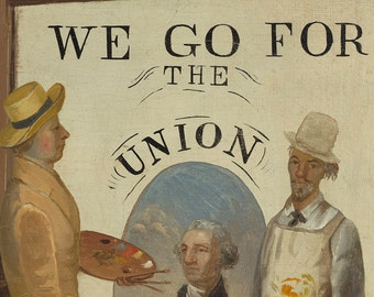 We Go for the Union, American Folk Art Oil Painting Print