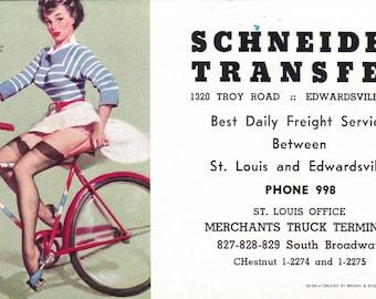 3 Vintage Ink Blotters,  1959, Gil Elvgren, Schneider Transfer, Edwardsville, IL  Advertising......FREE SHIPPING!