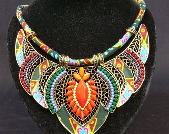 Ankara necklace african print necklace