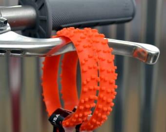 SET OF FIVE Orange Knobby Dirt Bike Tire Wristbands