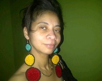 Crochet 3 Tier Circle Earrings