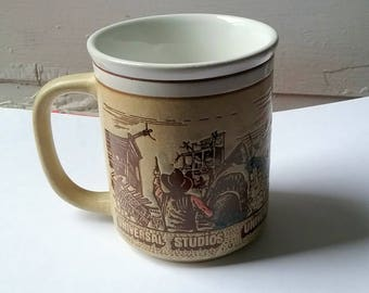 Vintage Universal Studios Mug Conan the Barbarian Jaws Battlestar Galactica