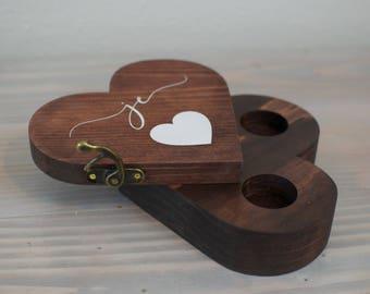 Personalized  Ring Box, Ring Bearer Box, Ring Bearer Pillow Alternative, Personalized Ring Box, Ring Box for Wedding, Ring Bearer