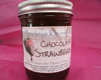 Chocolate Strawberry Jam, Handcrafted,Deliciously Sweet,homemade jam & jelly