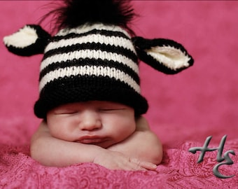 Zebra Hat PATTERN - diy for Newborn to Toddler Sizes - Instant Download
