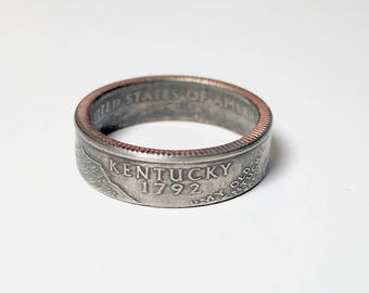 Kentucky - Coin Ring - Coin Jewelry - Quarter Ring - Gift - State Wedding Ring - Husband - Wife - State Quarter Ring - Anniversary Gift