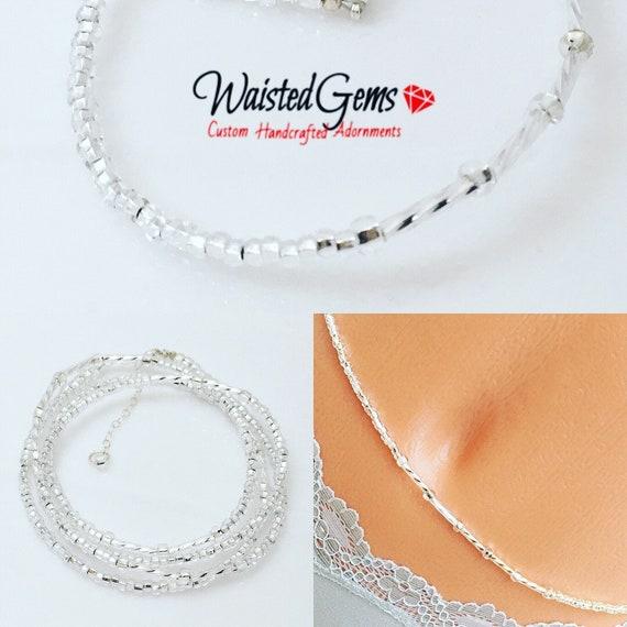 Icicle Waist Beads, body chain, waist beads, belly chain, african waist beads, Waistbeads summer party, purple waist beads, zmw6630