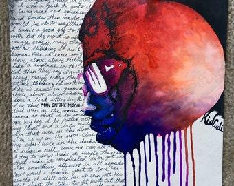 "Kid Cudi ""Man On The Moon"" Original Painting"