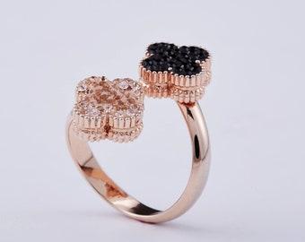 Rose Gold Clover Ring