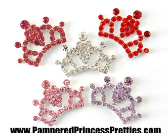 """Set of 4- Rhinestone Tiara Centers (26mm=Approx. 1"""")- You Choose Colors"""
