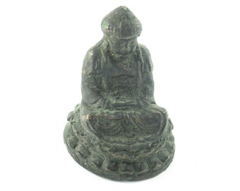 """Solid Copper Buddha Statue, 2.5"""" tall, 1.5"""" wide at base"""