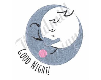 Good Night Moon - Machine Embroidery Design