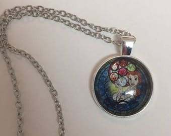 Beauty and the Beast pendant necklace