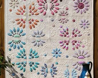 Floraisons divisés couette motif