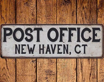 New Haven, Ct Post Office Vintage Look Metal Sign Chic Retro 6182268