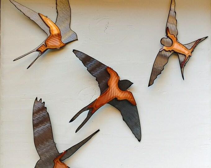 Swallow Wall Art Set