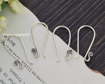 4 pieces (2 pairs)  oxidized 925 sterling silver ear wire ear hook ear wires earwire earwires ear hooks earring findings