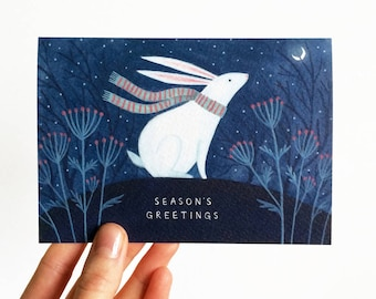 Christmas Card | Winter Rabbit | Season's Greetings Holiday Card