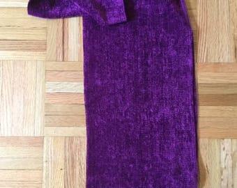 Handwoven Purple Chenille Scarf