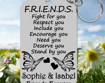 FRIENDS~  Best Friends Keychain Gift Special  Personalized FREE with Names