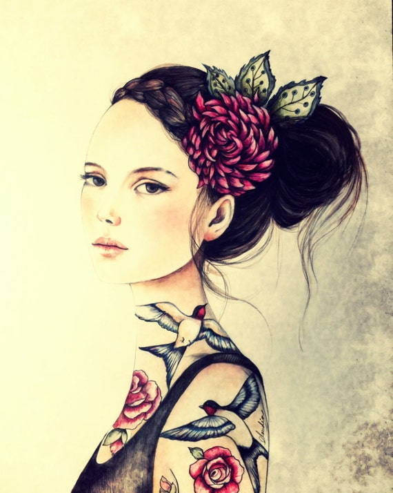 Juana with roses