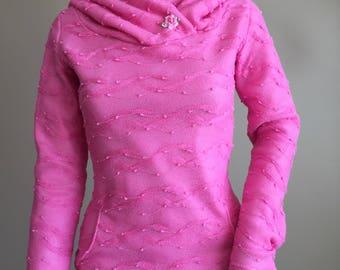 Textured knit Hoodie