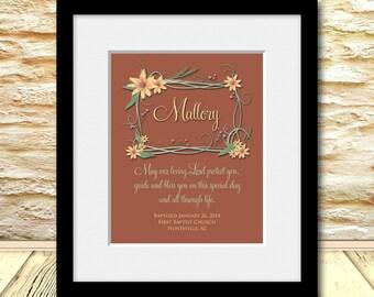 GIFT FOR GODDAUGHTER, Baptism Gift, Dedication Gift, Christening Gift, Personalized Baby Print, Baby Shower Gift, Nursery Wall Art