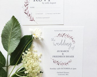 Jo Wedding Invitation Suite