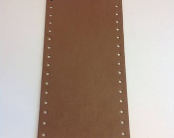 Bottom of bag made of eco leather - Cognac - oval 36 x 12 cm